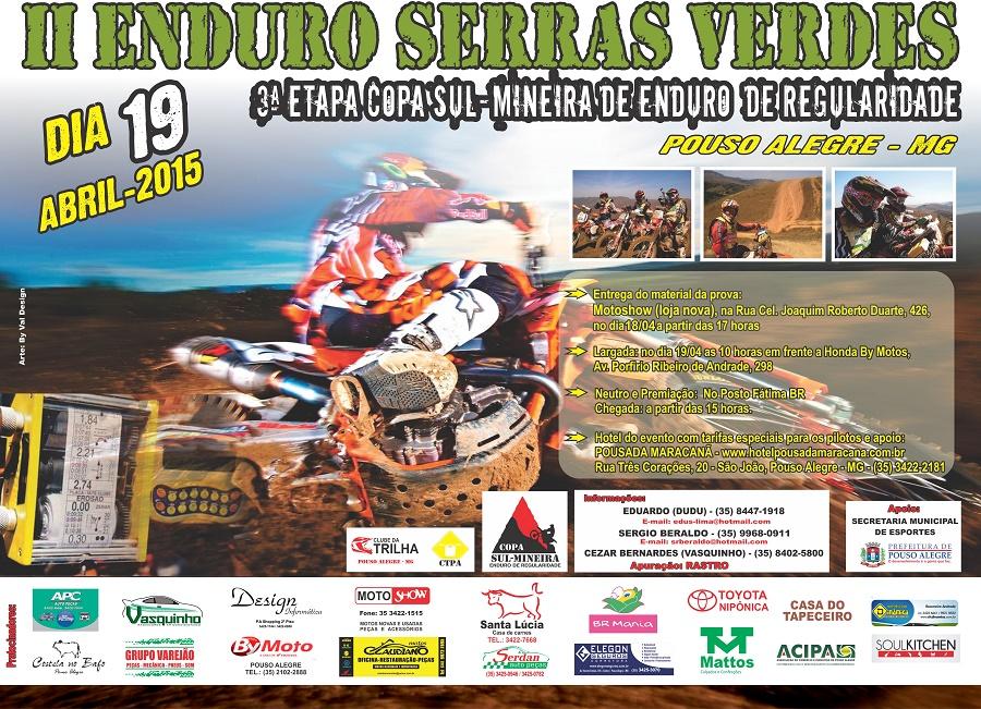 Cartaz Enduro Serras Verdes curva-site